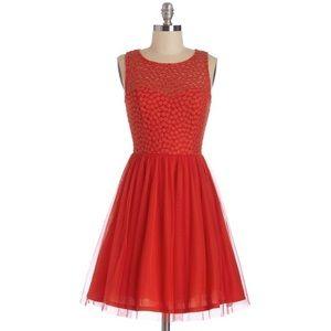 Modcloth Scarlet Celebration Dress